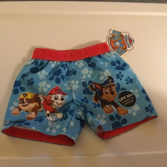 802e9a9923 Paw Patrol Boys Swim Suit Size 6-9mths